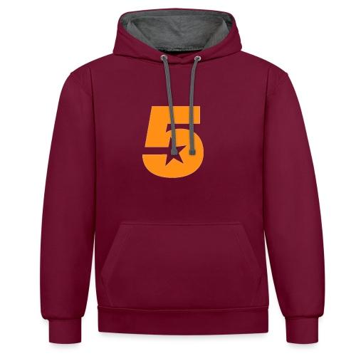 No5 - Contrast Colour Hoodie
