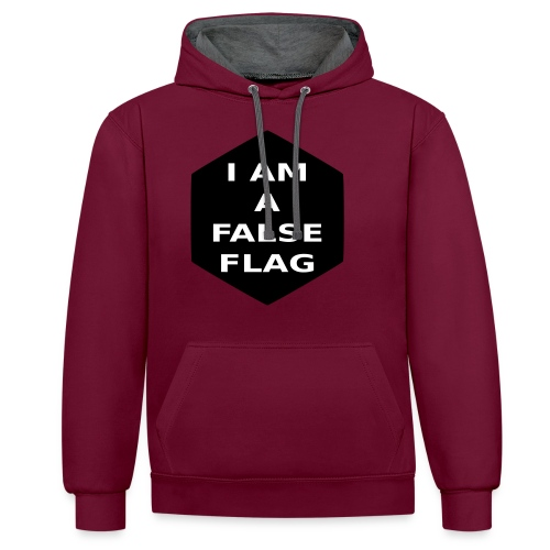 I am a false flag - Kontrast-Hoodie