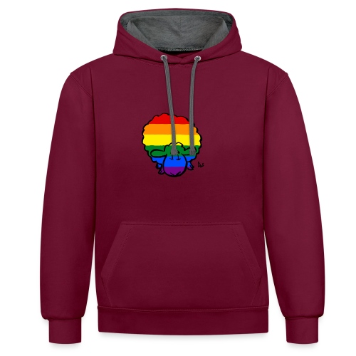 Regenbogen-Stolz-Schafe - Kontrast-Hoodie