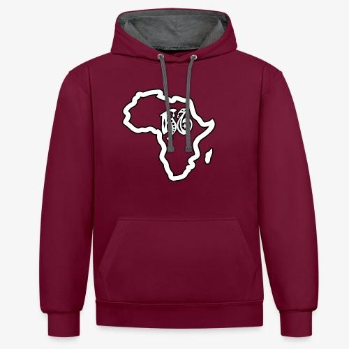 afrika pictogram - Contrast hoodie