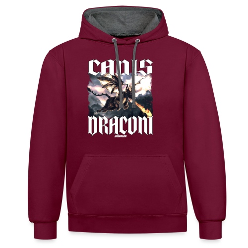 Canis Draconi - Contrast hoodie