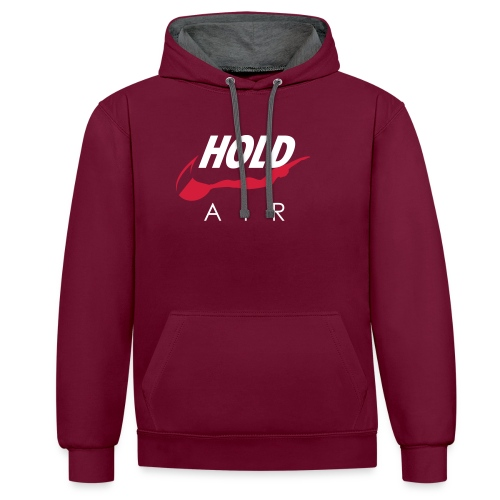 Just hold it! - Contrast Colour Hoodie