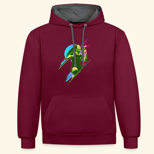 Play with the game and win the championship - Kontrast-Hoodie