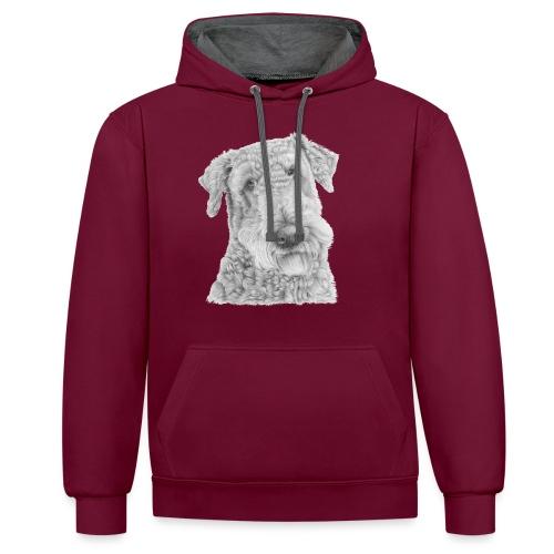 airedale terrier - Kontrast-hættetrøje