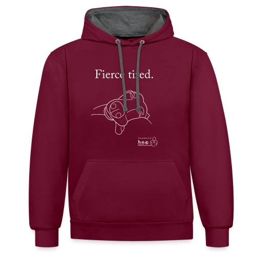 Fierce Tired Greyhound - Contrast Colour Hoodie