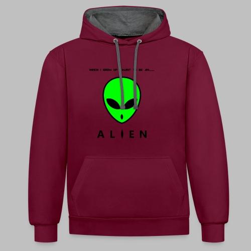 Alien - Contrast Colour Hoodie