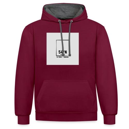 54°Nord square t-shirt edt.3 - Kontrast-hættetrøje
