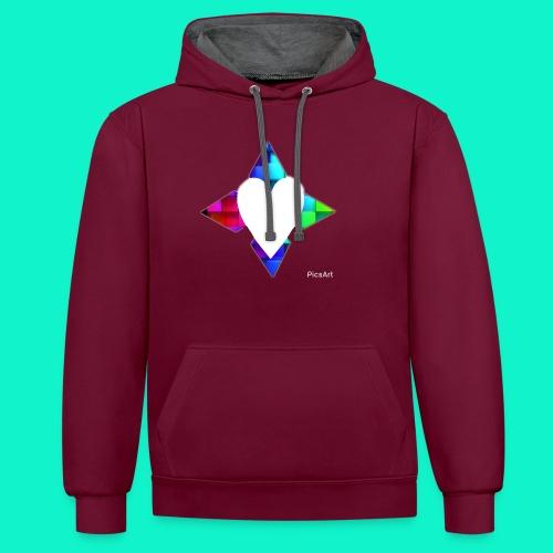 4lof - Contrast hoodie