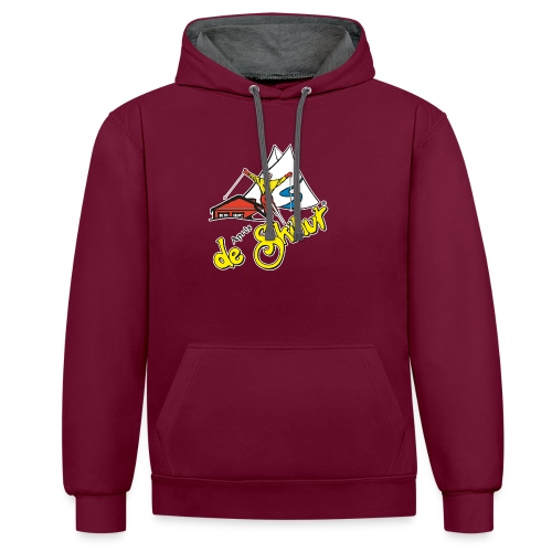 14787 fl tshirt logo skihut rotterdam - Contrast hoodie