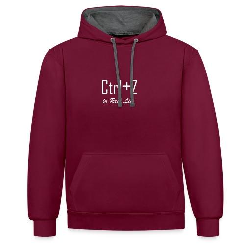 Ctrl+z irl - Sweat-shirt contraste