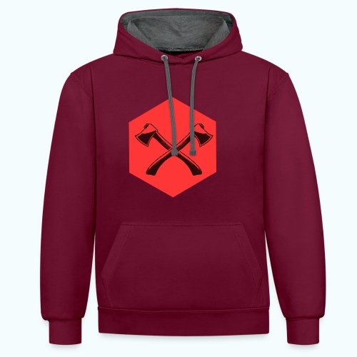 Hipster ax - Contrast Colour Hoodie
