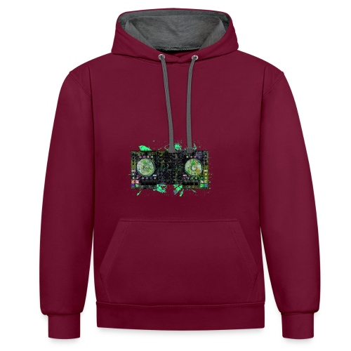 Electronic music t-shirts - Contrast Colour Hoodie