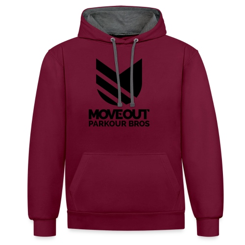 STAMPA MULTIPLA! Move Out Parkour Bros - Felpa con cappuccio bicromatica