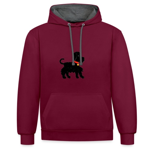 Schnauzer dog - Contrast Colour Hoodie