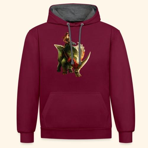 Dino Storm - Contrast Colour Hoodie