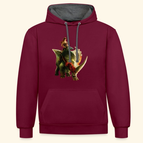 Dino Storm - Contrast Colour Hoodie