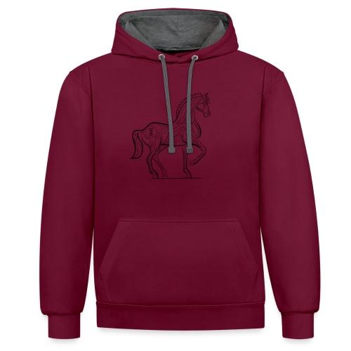 Equus Pferd - Kontrast-Hoodie