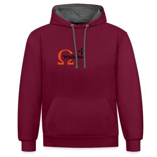 Omega-Weibchen - Kontrast-Hoodie