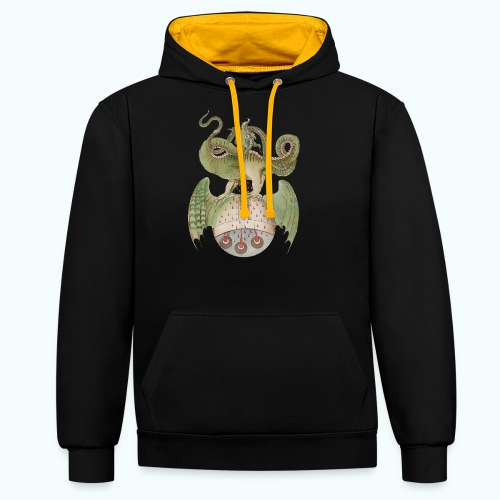 Middle Ages Dragon - Contrast Colour Hoodie