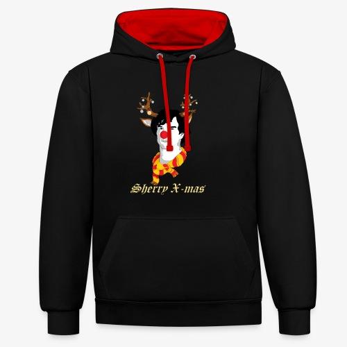 Sherlock Holmes reindeer editie - Contrast hoodie