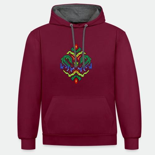 l étoile Mandala - Contrast Colour Hoodie