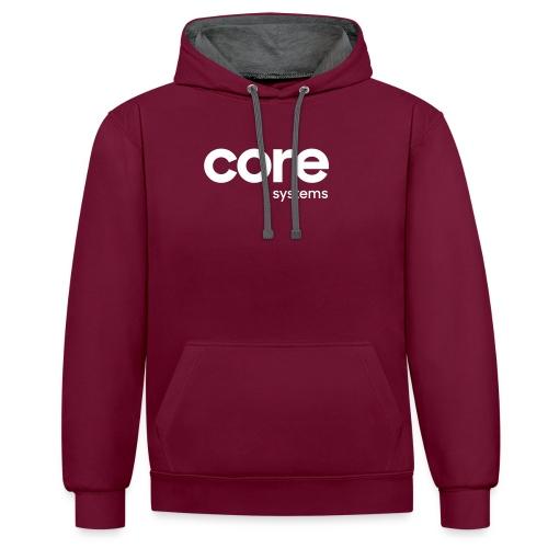 coresystems white - Kontrast-Hoodie