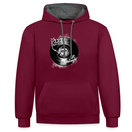The Merry Pranksters Till Midnight - Black T-Shirt - Contrast Colour Hoodie
