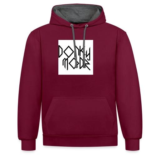 DonkyModz logo - Contrast Colour Hoodie