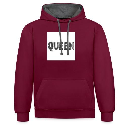 queen shirt - Contrast hoodie