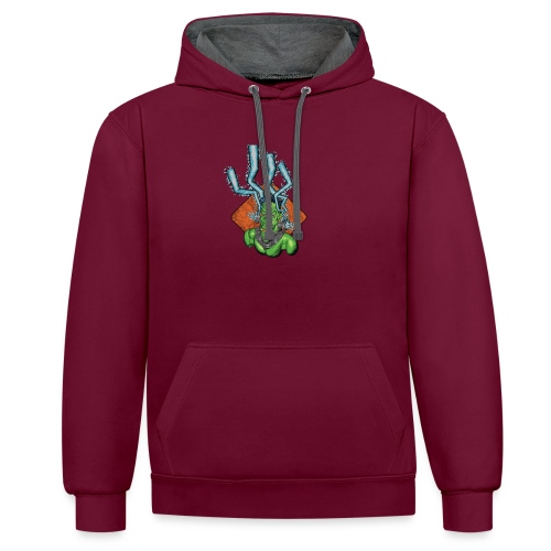 Frankie the monster - Contrast Colour Hoodie