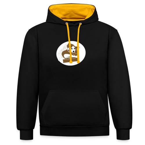 Droove logo - Contrast hoodie