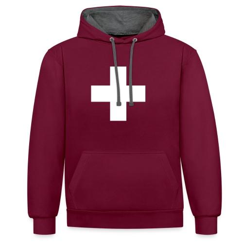 Kreuz - Kontrast-Hoodie