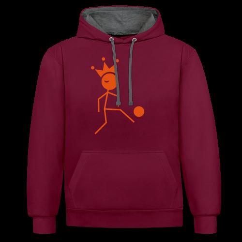 Voetbalkoning - Contrast hoodie