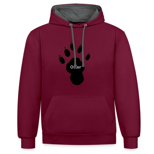 Otter Paw - Contrast Colour Hoodie