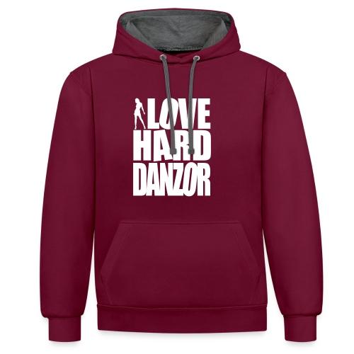 I Love Harddanzor - Kontrast-Hoodie