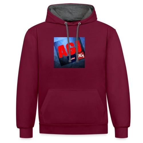 AGJ Nieuw logo design - Contrast hoodie