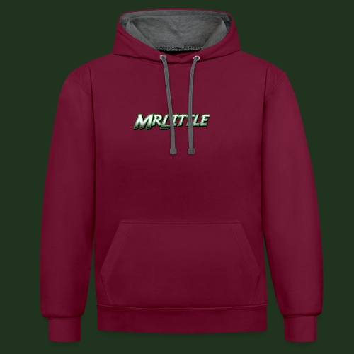 A simple text which fits on dark colours. - Contrast Colour Hoodie