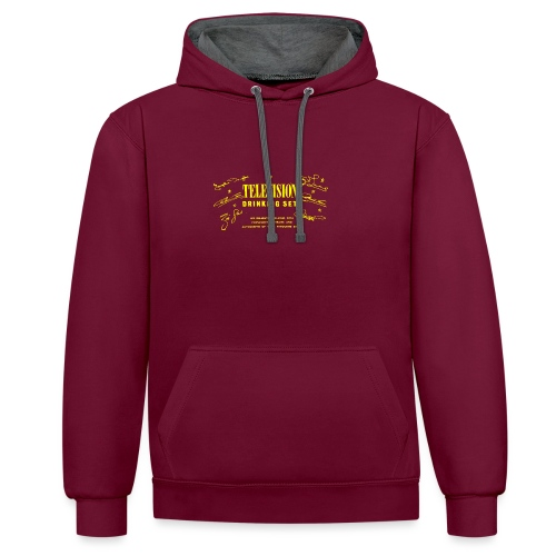 Television Drinking Set - Contrast Colour Hoodie