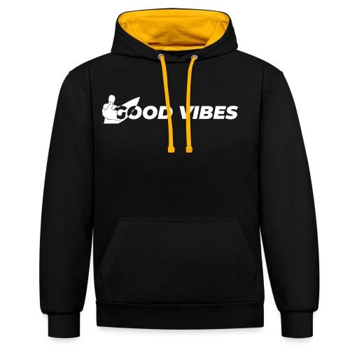 Good Vibes - Felpa con cappuccio bicromatica