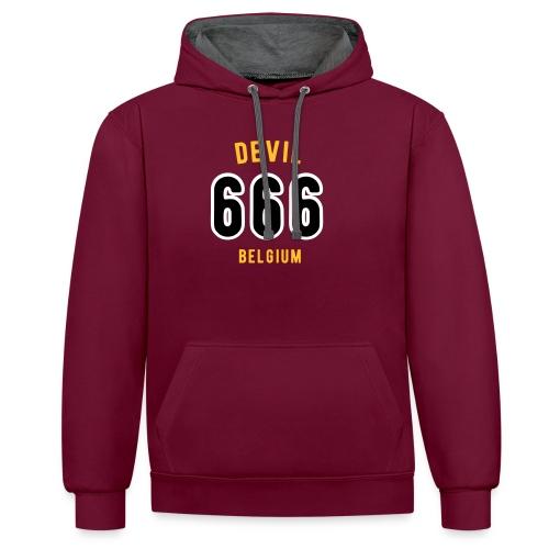 666 devil Belgium - Sweat-shirt contraste