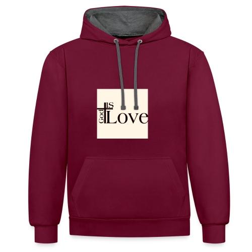 Good love - Contrast Colour Hoodie