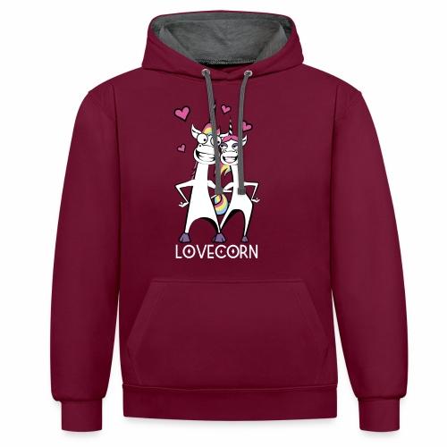 Lovecorn - Kontrast-Hoodie