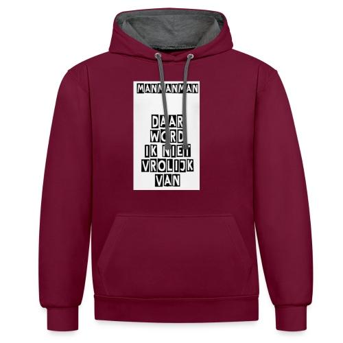 ManManMan - Contrast hoodie
