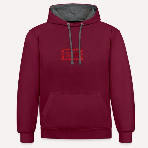 All You Need Is..Custom Design T-shirt Apparel - Contrast Colour Hoodie