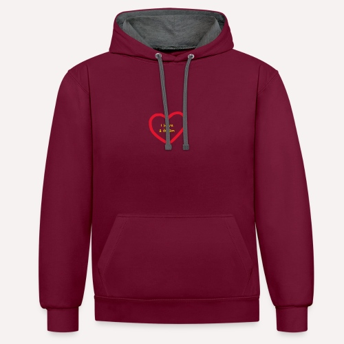 I have A Dream Print On Demand Love Heart Symbol - Contrast Colour Hoodie