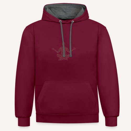 Yoga Pose Design For T-shirts and more Apparel - Contrast Colour Hoodie