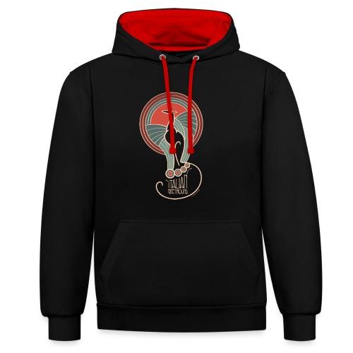 italian greyhound jugendstil 8 - Contrast hoodie