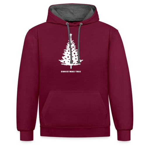 christmas tree, christmas, new year, rockefeller - Contrast Colour Hoodie