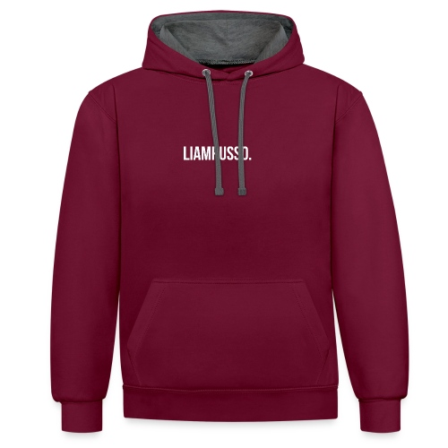 LiamRusso logo wit - Contrast hoodie