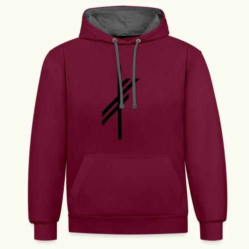 viking luck clean - Contrast hoodie